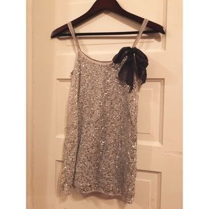 Abercrombie and Fitch Sequin Top with Bow